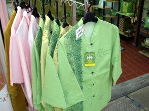 Shirts made of material made from sugar cane