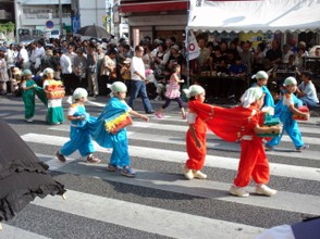 Children take part in a Festival in Naha City