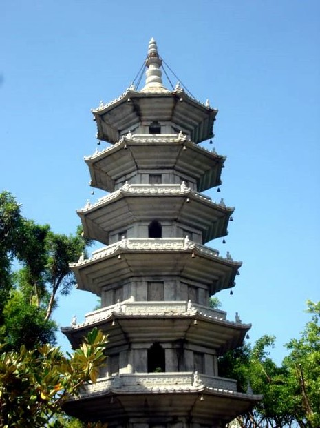 The Pagoda is very high with Seven Tiers