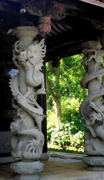 Some very intricate limestone carving.  This is typical in Okinawa.