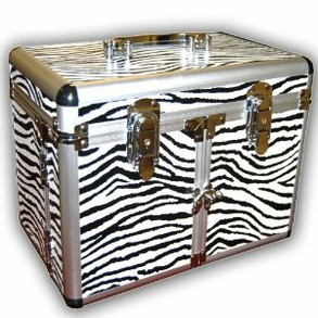 Zebra print train case