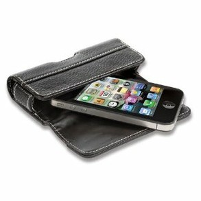 Flip leather case for i4S