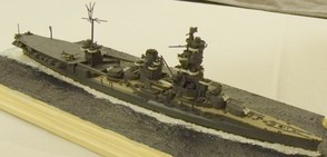 Model of the IJN Ise, as seen at a recent meet. The ship is depicted in her configuration following her 1943 refit.