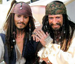 Captain Jack Sparrow and father