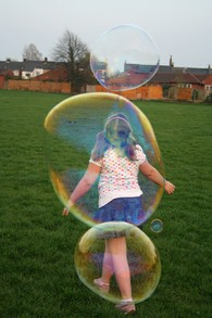 Outdoor Play with Bubbles