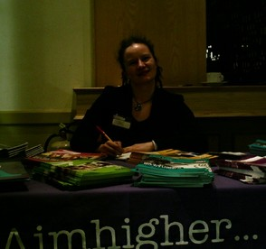 Jo Harrington at the Aimhigher Roadshow