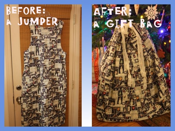 Jumper Before and Gift Bag After
