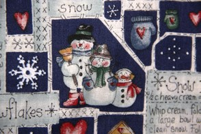 Snow Man Fabric