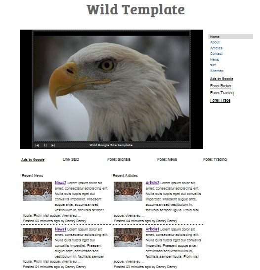 Free Free Template for Google Sites