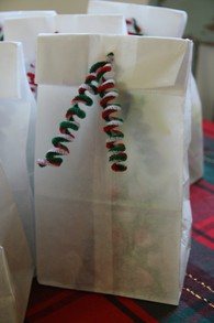 Treat bag with cheerful pipe cleaner decoration