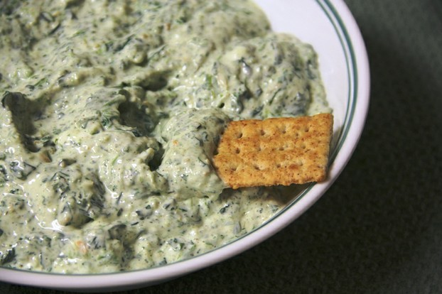 Spinach Dip with Cracker