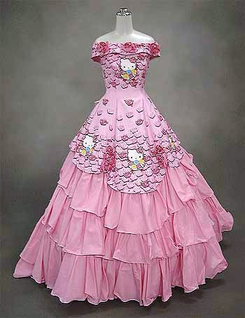 Hello Kitty Pink Gown