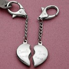Split Heart Keychain