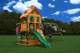 A Wooden Swing Set from GorillaPlaysets.com
