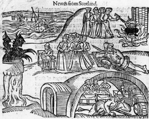 "The North Berwick Witches from a contemporary pamphlet, ""Newes From Scotland"" [sic]"