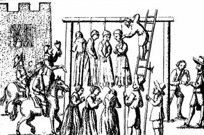Illustration of Witches Being Hanged