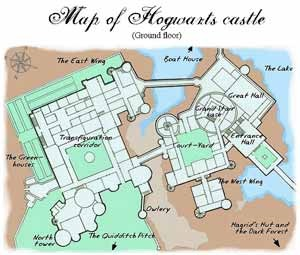 Map of Harry Potter Castle