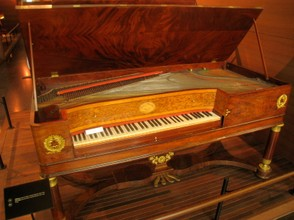 A Koller et Blanchet piano as kept in the Musical Instrument Museum, Brussels