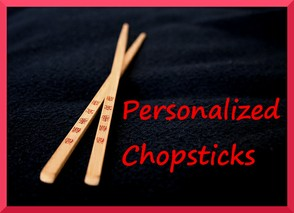 Personalized Chopsticks as Party Favors