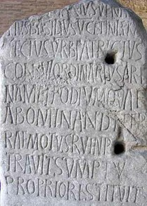 5th century inscription in the Colosseum in Rome.