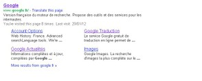 site-links in serps