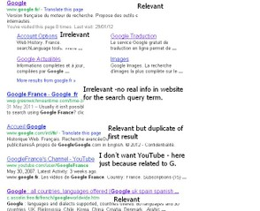 relevance of serps results