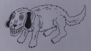 Ink The Entire Dog Drawing