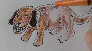 Overlay Orange Pencil Lightly Over The Brown