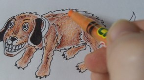 Continue To Color With The Orange Pencil
