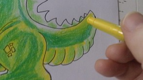 Color The Yellow All Through The Dragon Drawing