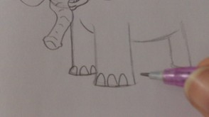Drawing Some Toe Nails And Define The Outlines