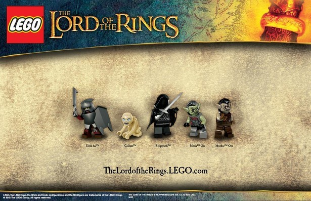 Lego Lord of the Rings Evil Minifigures