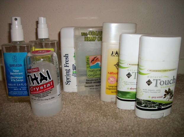 Natural Deodorants by Weleda, Jason, Wilderness Family, and Thai Deodorants