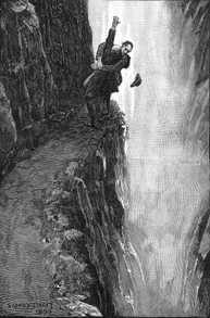 Sherlock Holmes and Professor Moriarty at the Reichenbach Falls