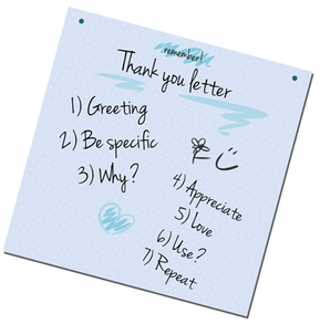 How to write a thank you letter - How to write a thank you note