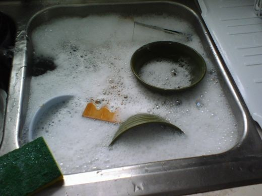 A Sink Full Of Dirty Dishes