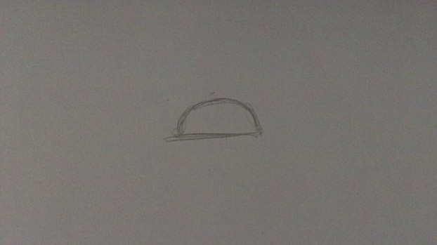 Draw a Half Circle Shape For The Head