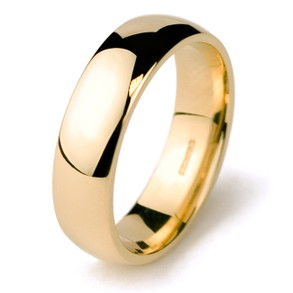 Mens Yellow Gold Wedding Ring