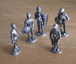Antique old chess men