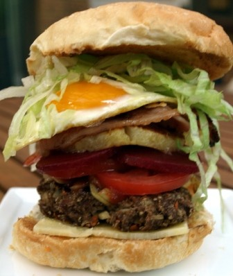 Burger with the lot, Aussie style - does it appeal to you ...