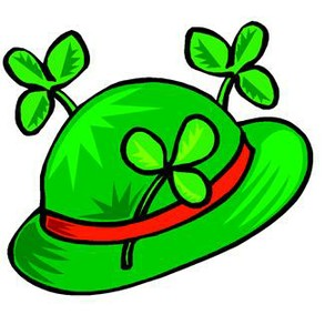 Shamrock and green hat...