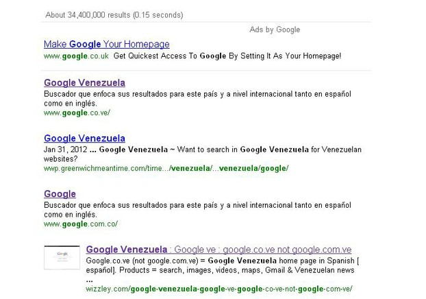 Google Venezuela ranked 4