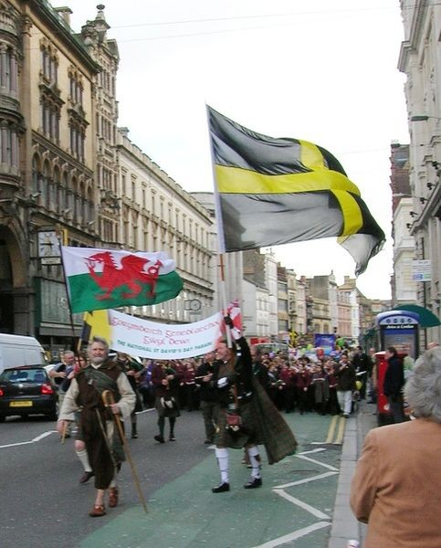 St Davids Day celebrations 2007, St Mary Street, Cardiff, Wales