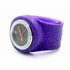 "Purple Croc SLAP Watch with ""Bling"""