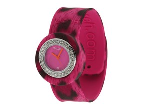 "Pink Leopard Jr. SLAP Watch with ""Bling"""