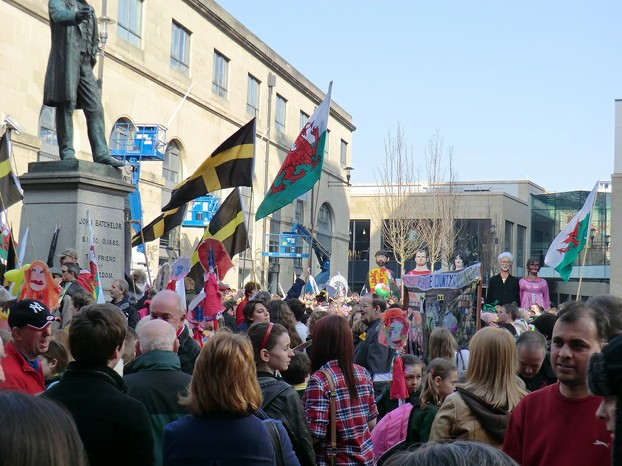 The Hayes, St David's Day, Cardiff 2012