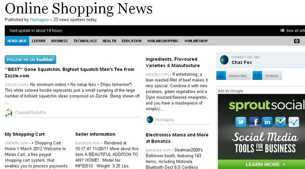 Online Shopping News First Edition