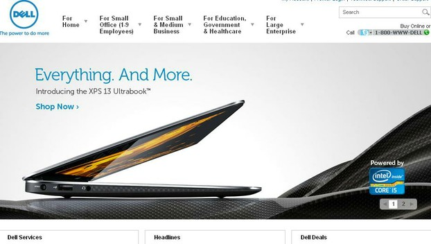 Dell Front Page