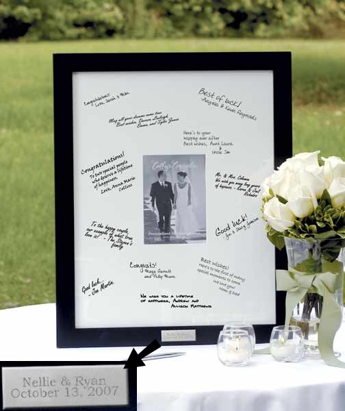 Source wedding signature Wedding Signature Frame