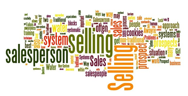 Sales Failure and Success Tag Cloud